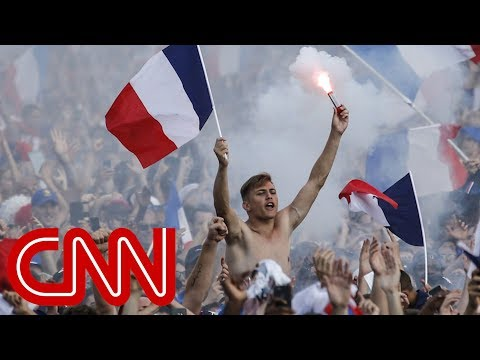 France celebrates 4-2 World Cup win over Croatia