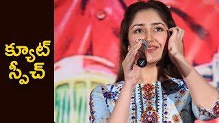 Sayesha Saigal Cute Speech @ Chinababu Success Meet    Karthi   #Chinababu   Sayesha Saigal