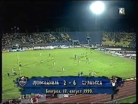 Yugoslavia vs Croatia 2-6 Under 21 - 1999 belgrade