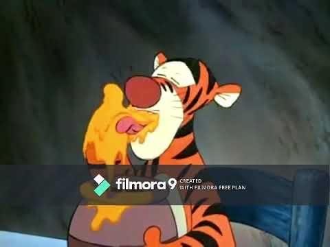 "Der Elefant Laughs at Tigger Saying ""Yuck! Tiggers Don't Like Honey"""