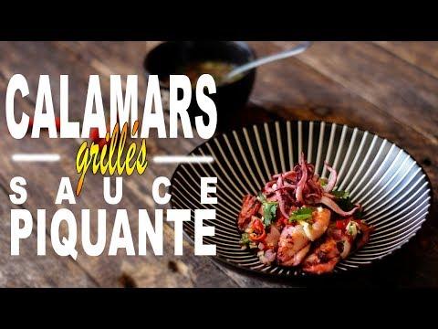 Calamars Grillés Sauce Piquante - Le Riz Jaune