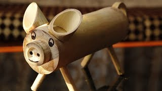 Piggy Bank from Bamboo, How to Make.  | DIY |