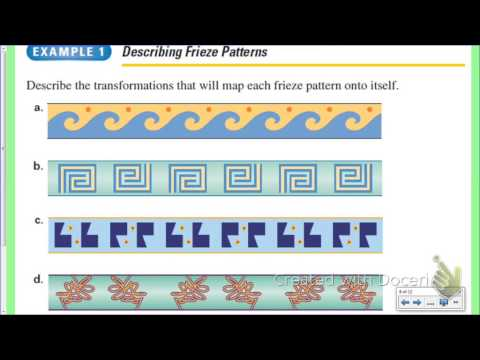 Geometry- Glide Reflections and Frieze Patterns