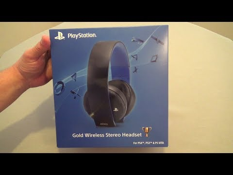 Gold Wireless Stereo Headset for PS4. PS3 & PSVita Hands On