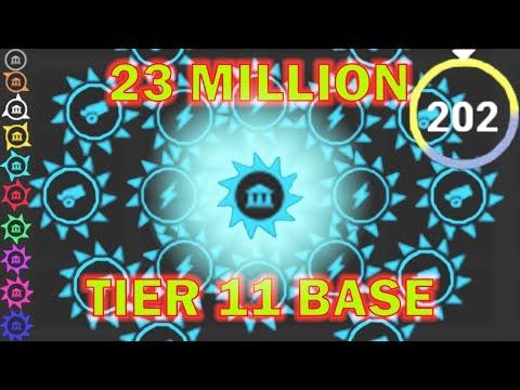 YORG.io - Full Tier 11 Base - Reaching Wave 202 (23 Million Score)