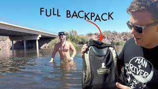 I Found a Full Backpack & iPhone X Submerged Underwater Beneath Bridge