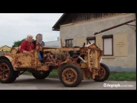 Man creates car entirely out of wood