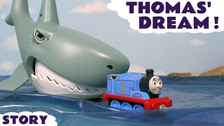 Thomas & Friends Thomas' Dream Take N Play Toy Trains Adventure with Shark and Piranha TT4U