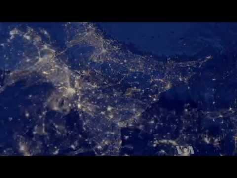 Новый Год взгляд из космоса