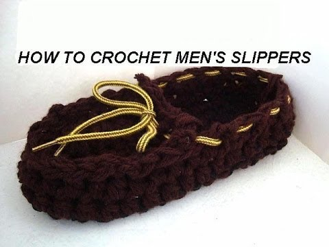 Crochet Patterns For Men Slippers How to Crochet Men 39 s Slippers