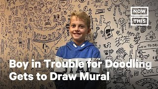 Boy Who Got In Trouble for Doodling Draws Restaurant Mural | NowThis