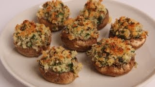 Breadcrumb Stuffed Mushrooms Recipe - Laura Vitale - Laura in the Kitchen Episode 330