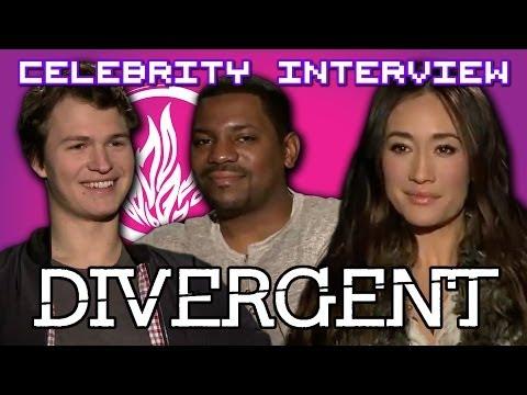 Divergent Interviews with Ansel Elgort, Mekhi Phifer & Maggie Q