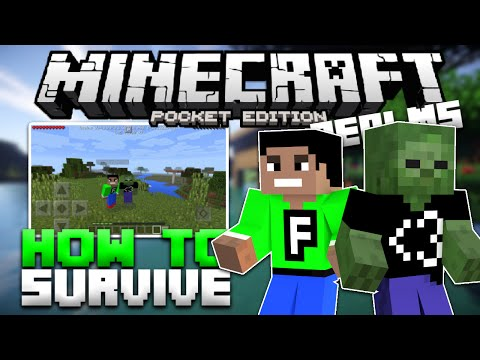 How To Survive Your First Night in MCPE - Realms for Minecraft PE 0.15.0 (Pocket Edition)
