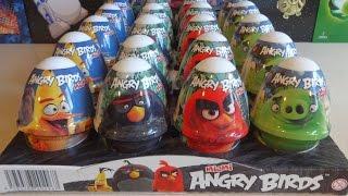 2016 Angry Birds Movie 24 Surprise Eggs Figures Complete Set Juguetes Huevos Sorpresa
