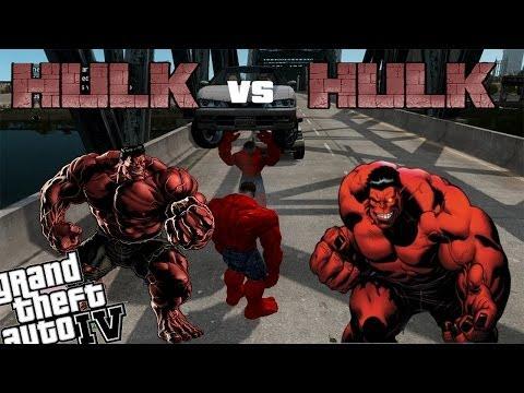 Gta 4 Red Hulk Mod - Red Hulk Vs Red Hulk Ultimate Battle video