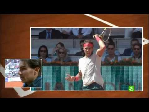 Rafa Nadal vs. David Ferrer 4-6, 7-6 (3) y 6-0 en cuartos de final del Mutua Madrid Open