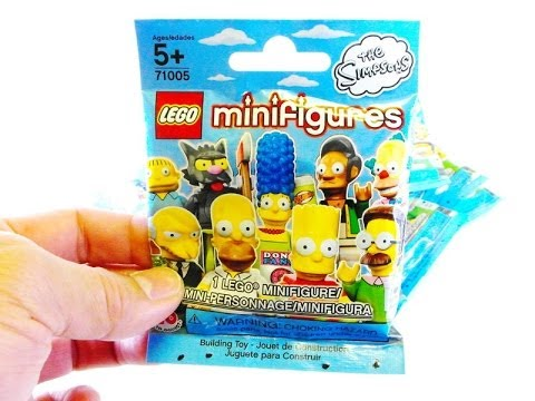 THE SIMPSONS LEGO minifigures BUMP CODES unboxing VIDEO! 14 of 16 missing Ralph & Mr  Burns