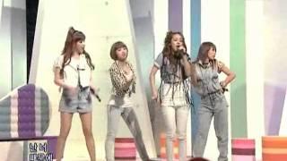 2NE1 - I don't care @ SBS Inkigayo 인기가요 090712