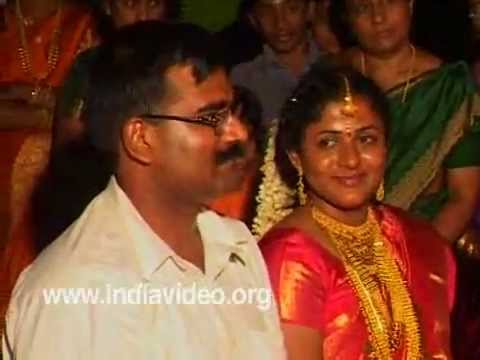 Welcoming the married couple A Custom in Hindu Marriage Kerala