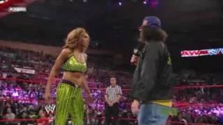 WWE Raw 11 16 09 Melina vs Alicia Fox Divas Championship Match