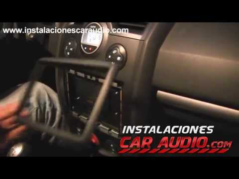 Instalación Radio DVD en Renault Meganne 2 manteniendo el control de timón