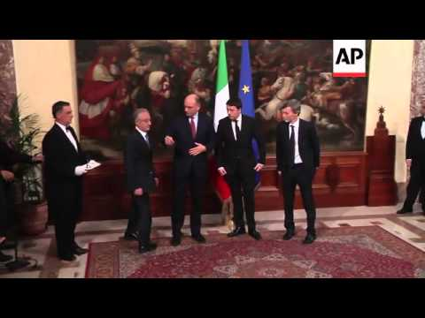 Ceremony handing over power from Letta to Renzi; first meeting of new cabinet