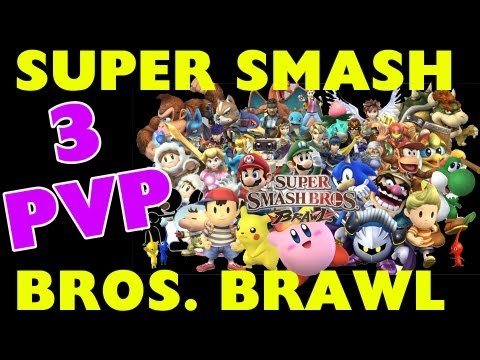 Super Smash Bros Brawl - 3 Player Battle