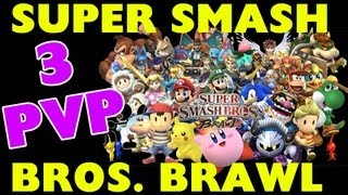 Super Smash Bros Brawl - 3 Player Battle