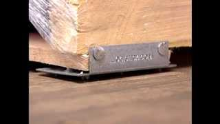 Pallet Cleats Installation/Removal :: Logistick demonstrates proper installation and use of their Pallet Cleats product for securing freight loads. www.logistick.com.