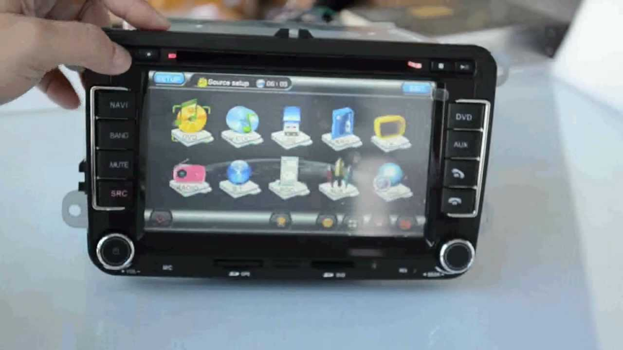 funcionts of vw golf passat car dvd gps car radio. Black Bedroom Furniture Sets. Home Design Ideas