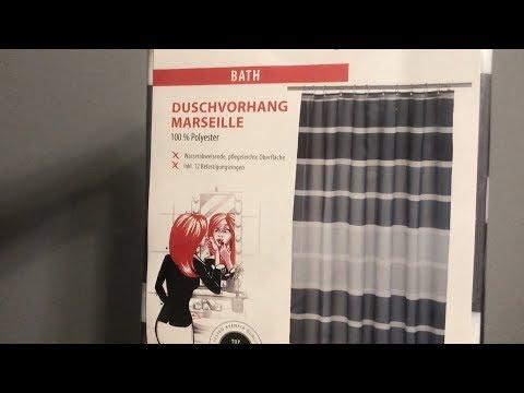 МояРаспаковка: Занавеска для ванной Axentia Marseille Schwarz из Rozetka