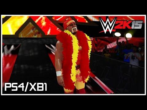WWE 2K15 PS4/XB1 - Hulk Hogan Entrance, Finisher & Winning Animation! (Hulkamania Edition DLC)