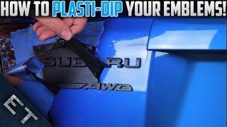 How To Plasti Dip Emblems/Badges on Your Car | Step By Step Guide (2014 WRX)