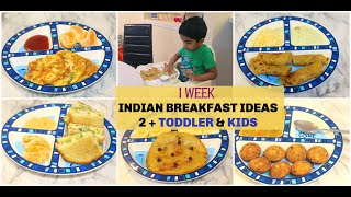 MON-SUN 7 HEALTHY INDIAN BREAKFAST RECIPES FOR 2+ TODDLER/HEALTHY BREAKFAST FOR PICKY EATERS