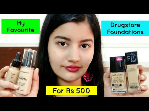 My Favourite Drugstore Foundations for Rs 500 #FestiveSeries
