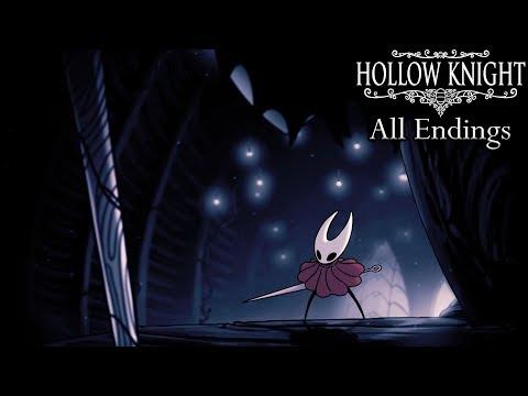 Hollow Knight - All Endings (Including Godmaster DLC Endings)