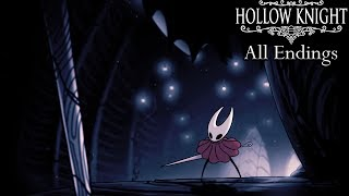 Hollow Knight - All Endings (Including Godmaster DLC Endings)