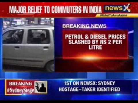 Petrol, diesel prices cut by rs 2 per litre each