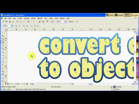 Converting outline to objects in CorelDraw