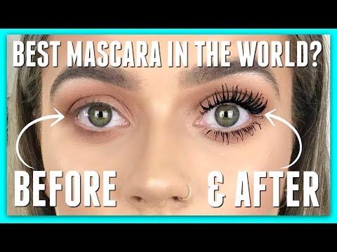 Testing the WORLD'S BEST MASCARA??   Benefit Bad gal bang mascara review   EmmasRectangle