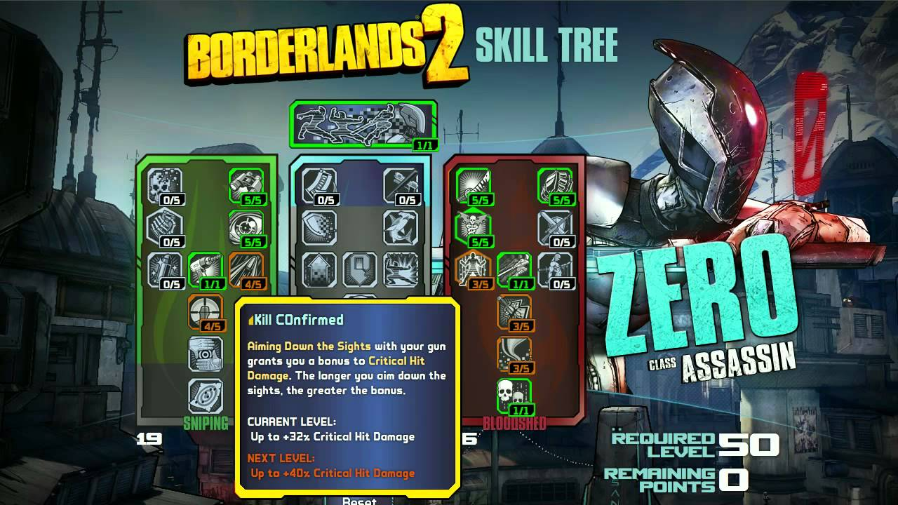 Borderlands  Assassin Skill Build