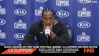 Kawhi Leonard on first game with Paul George | LA Clippers Win 107-104 Postgame (FULL) 11-20-2019