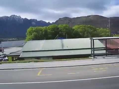 Bus view to Queenstown airport