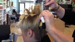 Flat iron styling technique by Stephanie