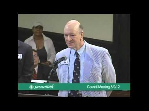 Live Broadcast of Savannah City Council NS Savannah Proclamation on Aug. 9, 2012