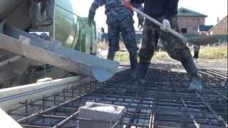 Строительство дома: Заливка фундамента ч.3
