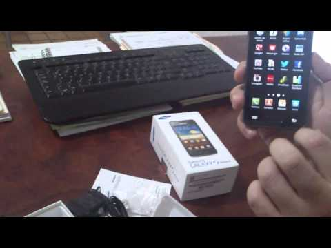 unboxing samsung galaxy s advance mexico
