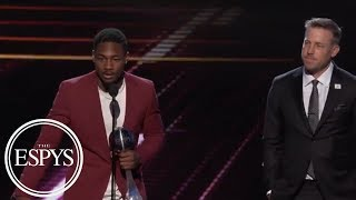 Stefon Diggs, Case Keenum accept Best Moment award for Vikings' TD vs. Saints | 2018 ESPYS | ESPN