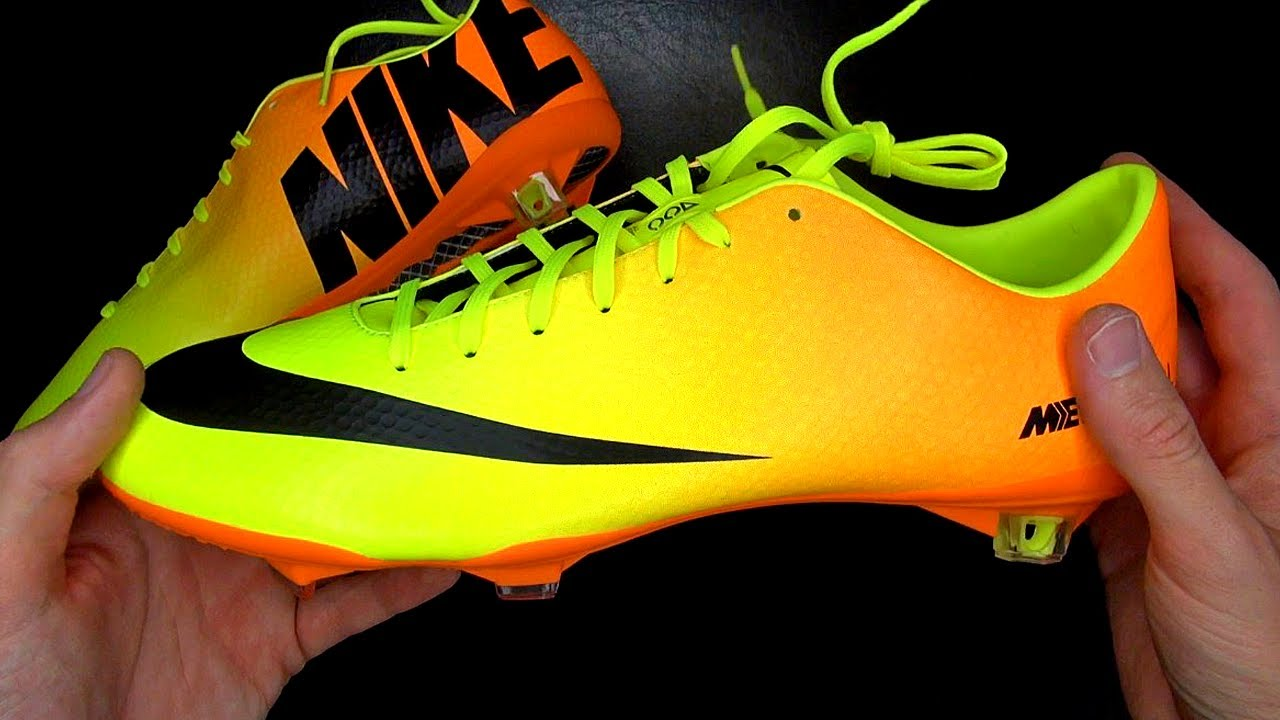 Nike mercurial vapor 9 orange yellow